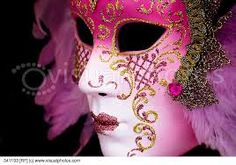 Image result for pink full face venetian masks