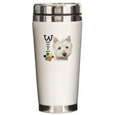 Ceramic Travel Mug for Westie lovers on the go!