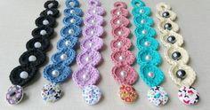 ¿Quieres aprender a hacer estas pulseras de crochet? Pues toma nota. ;).
