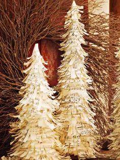 Sheet music Christmas tree.
