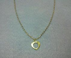Antique Gold 'Heart' Charm Necklace by OneSEC on Etsy, $8.50