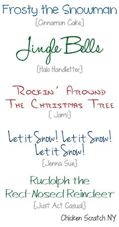 Free Holiday Fonts   Chicken Scratch