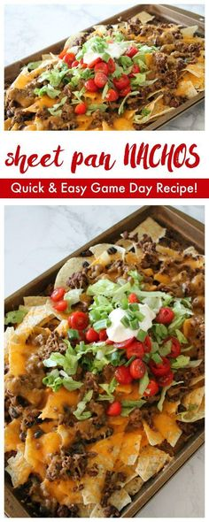 This Sheet Pan Nachos Recipe with Homemade Taco Seasoning is perfect for dinner tonight or Game Day!