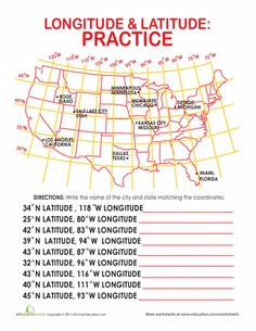 Worksheet Latitude And Longitude Worksheets For 5th Grade trips the ojays and worksheets on pinterest latitude longitude of cities this would be cool to recreate worksheet