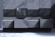 vasque-design-tccwhitestone-calcata-forme-ovale-noir-mat-carrelage-mural-marbre-gris vasque design