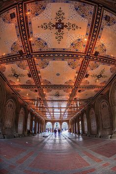 Bethesda Terrace Lower Passage, Central Park, #NYC