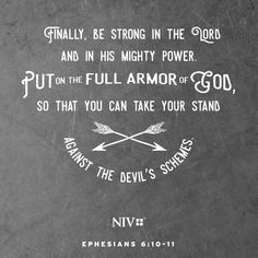 #NIV verse about putting on the armor of God in order to be prepared to take a stand against the schemes of satan.