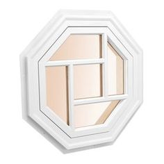 Awsco Octagon Replacement White Exterior Window (Rough Opening: X Actual: X Octagon Window, Bathroom Fireplace, Brick Molding, Glass Kitchen, Kitchen Reno, Kitchen Ideas, Kitchen Cabinets, New Home Designs, Lowes Home Improvements