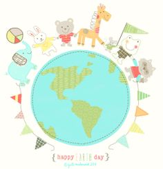Earth Day illustration on Jill McDonald's Show & Tell blog