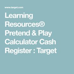 Learning Resources® Pretend & Play Calculator Cash Register : Target