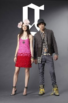 Galliano selects top model's Francisco Lachowski and Jacquelyn Jablonski to model his Galliano by John Galliano Spring Summer 2011 line. John Galliano, Skateboard Fashion, Perfume Ad, Francisco Lachowski, Advertising Campaign, Fashion Photo, Harry Styles, Spring Summer, Punk