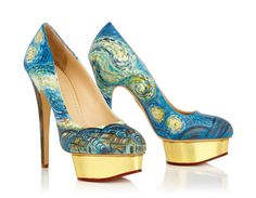 Charlotte Olympia Modern Art Dolly Heels for Art Basel Miami 2012: Vincent van Gogh