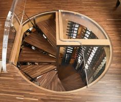 Amazing wine cellar through the glass door on the floor!! I would so do this!