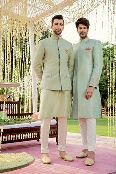 Sadaf Fawad Khan Talks About Her New Bridal Collection Adam And Eve! Wedding Kurta For Men, Wedding Dresses Men Indian, Wedding Sherwani, Wedding Dress Men, Mens Indian Wear, Indian Groom Wear, Indian Engagement, Waistcoat Men, Mens Kurta Designs