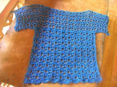 Crochetology problem: Given an openwork pattern (below), use and alter the pattern to construct a simple shape for a ladies' blouse. Try...