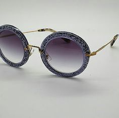 2ee14ad3dc2 Miu Miu Sunglasses New and Authentic Miu Miu Sunglasses Beautiful round  purple sunglasses Original case Included Miu Miu Accessories Sunglasses