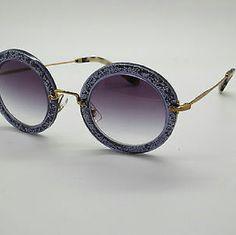 Miu Miu Sunglasses New and Authentic  Miu Miu Sunglasses  Beautiful round purple sunglasses  Original case Included Miu Miu Accessories Sunglasses