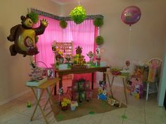 Masha and The Bear Decoration for Birthday Party