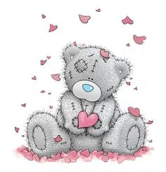Мишка Тедди в сердечках
