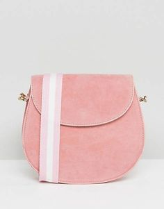 Glamorous Suedette Saddle Bag in Pink d240d6f30644b