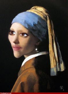 Girl With Pearl Earring Caricature Girl With Pearl Earring, Famous Art, Hearing Aids, Caricature, Pearl Earrings, Pearls, News, Daughter, Pearl Studs