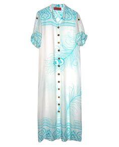 Fair Trade Marefu Cotton Shirt Maxi Dress