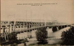 Vintage Bridge Susquehanna River Perryville Maryland Postcard