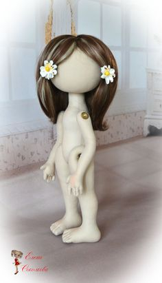 Cloth doll body blank.unfinished doll OOAK art doll. от Elenadolls