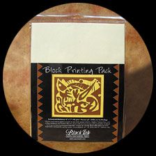 This block printing pack includes 25 sheets of unbleached 9″ x 12″ mulberry paper gpcpapers.com