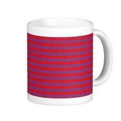 Purple and Red Stripes Mug