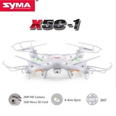 61.66$  Buy here - http://alih5d.worldwells.pw/go.php?t=32752425638 - Upgrade Version Syma X5C-1 4CH 2.4G RC Quadcopter with 2MP HD Camera & 2GB Micro SD Card Original Retail Box RC Helicopter Drone