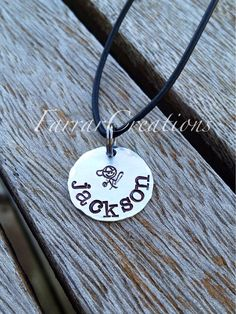 Personalized Childs Name Necklace  Hand Stamped by FarrarCreations, $20.00
