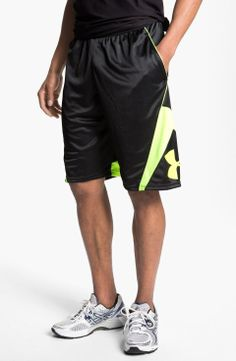 Under Armour 'EZ Mon-Knee' Basketball Shorts | $35 | gifts for the sporty guy | mens shorts | athletic | sports | basketball | menswear | mens style | wantering http://www.wantering.com/mens-clothing-item/under-armour-ez-mon-knee-basketball-shorts/abjnT/