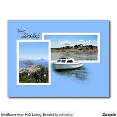 briefkaart voor Mali Losinj, Kroatië, Photo, tourism, Europe, Croatia, Croatian, Adriatic sea, Adriatic , Mediterranean, Istrie, Kvarner, Losinj, island Losinj, island, otok Losinj, eiland Losinj, vacation, travelling, journey, holiday, holidays, holiday, voyage, reizen, vakantie, Kroatie, postcard, postcards, design,  Originele postkaarten voor het eiland Losinj in Kroatië met een heel nieuw design. Ook verkrijgbaar ZONDER TEKST zodat je ze kan personaliseren