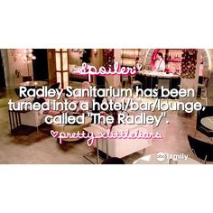 """In the books, """"The Radley """" was a hotel and a hospital so..."""