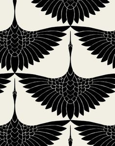Carrie Hansen Swan Textile Design- I actually love this as a tattoo idea, just one bird between shoulder blades. Carrie Hansen Swan Textile Design- I actually love this as a tattoo idea, just one bird between shoulder blades. Motifs Textiles, Textile Prints, Textile Patterns, Textile Logo, Textile Pattern Design, Fashion Patterns, Boho Pattern, Pattern Art, Pattern Flower