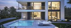Find Modern Villa Pool Night Scene stock images in HD and millions of other royalty-free stock photos, illustrations and vectors in the Shutterstock collection. Thousands of new, high-quality pictures added every day. Villa Pool, Laundry Design, Video Game Rooms, Garden Deco, Modern Farmhouse Exterior, Dream House Exterior, Exterior Design, House Design, Mansions