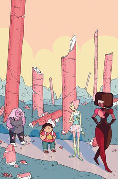 STEVEN UNIVERSE #2 Retail Price: $3.99 Author: Jeremy Sorese Artist: Coleman Engle Cover Artists: A. George Caltsoudas B. Felicia Choo  C. Amber Rogers (Incentive)
