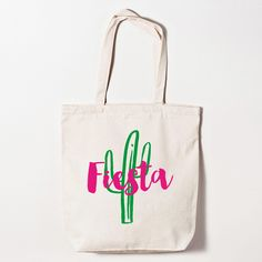 Bachelorette Party Fiesta Cactus Tote Bag for your south of the border bash