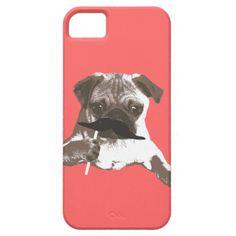 Cool Mustache Pug iPhone 5 Case