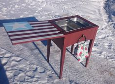 Patriotic Up-Cycled Drink Snack Station Bar Party by rabbitycat