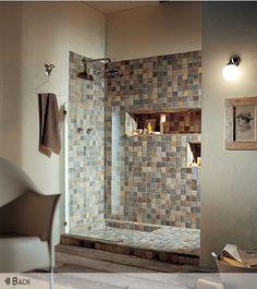 Virginia Tile Co Love Half Gl And Shampoo Shelf Walk In Shower Designs Dream