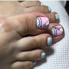 Pretty Toe Nails, Cute Toe Nails, Pretty Toes, Toe Nail Art, Gel Pedicure, Pedicure Designs, Opi Nails, Nail Manicure, Cute Pedicures