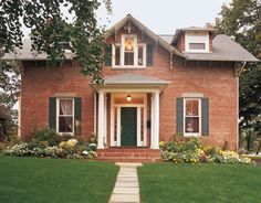 Red brick curb appeal
