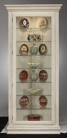 Colortime Prism Corner Curio Cabinet