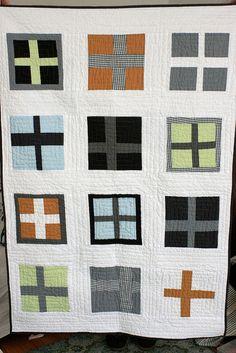 a modern quilt. by CB Handmade, via Flickr