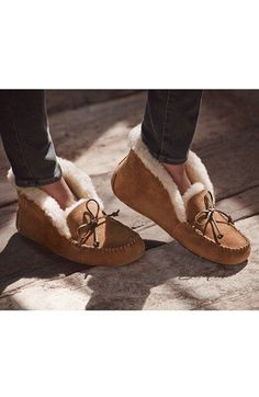 Slippers from my husb, to me   UGG® Australia 'UGGpure™ Alena' Suede Slipper (Women)   Nordstrom