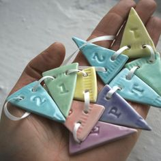 Personalised Porcelain Bunting, per piece