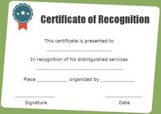 Certificate of recognition blank template certificate of certificate of recognition as chairman yadclub Image collections