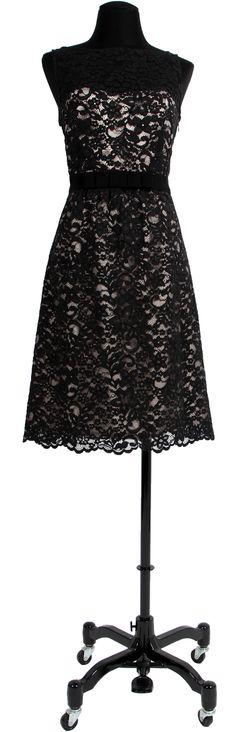 1.2.3 Paris - Robe Pearl #mode #hiver #123 #dentelle #guipure #noir #ceinture #grosgrain